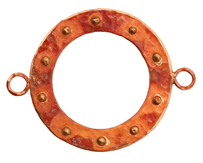 Patricia Healey Copper Large Bumpy Round Link w/ 2 Loops 50x39mm