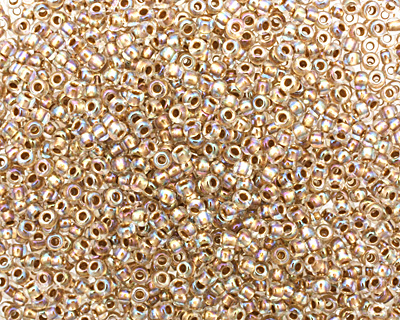 TOHO Rainbow Crystal (with Gold Lining) Round 11/0 Seed Bead