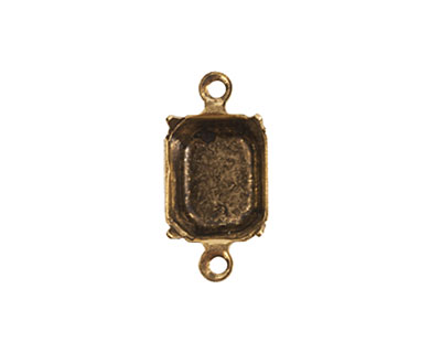 Nunn Design Antique Gold (plated) Octagon Prong Setting 17x9mm