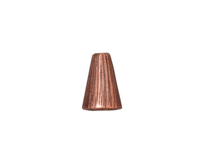 TierraCast Antique Copper (plated) Tall Radiant Cone 12x9mm