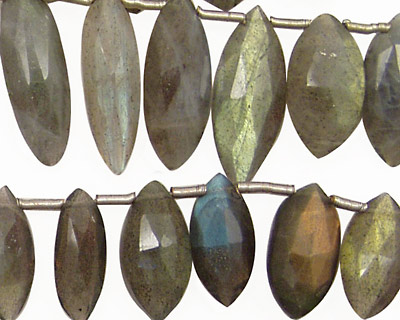 Labradorite Faceted Spears Graduated 7-9x15-18mm