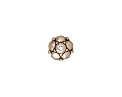 TierraCast Antique Silver (plated) Eastern Bead Cap 4x10mm
