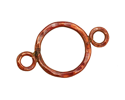 Patricia Healey Copper Large Round Link w/ 2 Loops 34x21mm