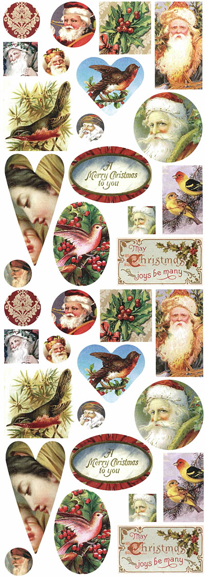 Nunn Design Winter Holiday Collage Sheet