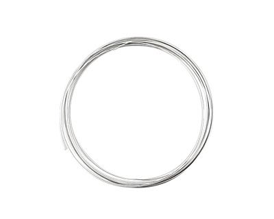 German Style Wire Silver (plated) Half Round 20 gauge, 3 meters