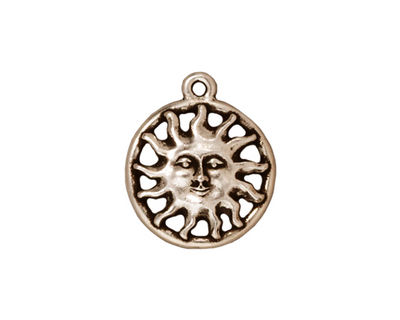 TierraCast Antique Silver (plated) Sunshine Charm 11x17mm