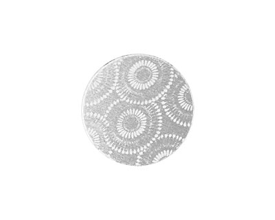 Lillypilly Silver Dandelion Anodized Aluminum Disc 19mm, 22 gauge
