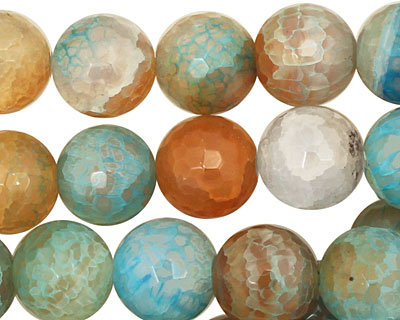Beach Agate Faceted Round 12mm