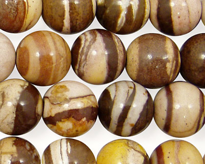 Brown Zebra Jasper Round 12mm