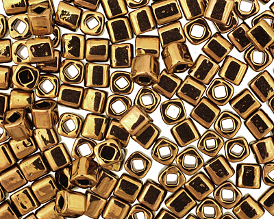 TOHO Antique Bronze Cube 4mm Seed Bead