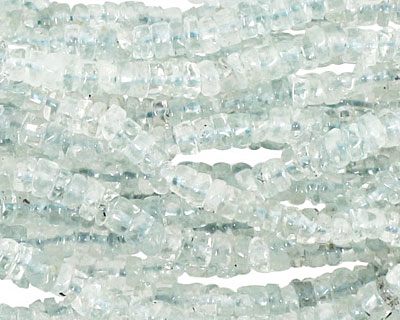 Aquamarine Irregular Heishi 4-5mm