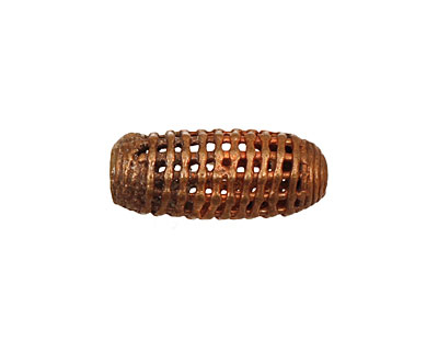 African Brass Small Cage Rice 22-24x10-11mm