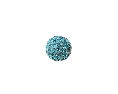 Aquamarine Pave Round 10mm