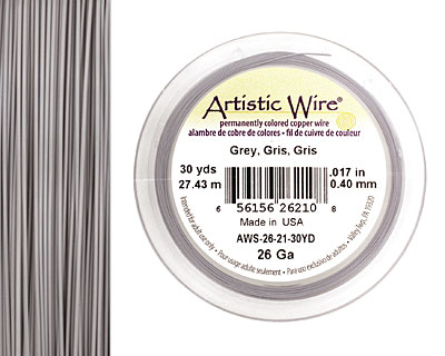 Artistic Wire Grey 26 gauge, 30 yards