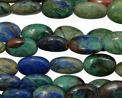 China Chrysocolla Flat Oval 10x8mm