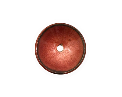 C-Koop Enameled Metal Ruby Red Disc 3-4x18-20mm