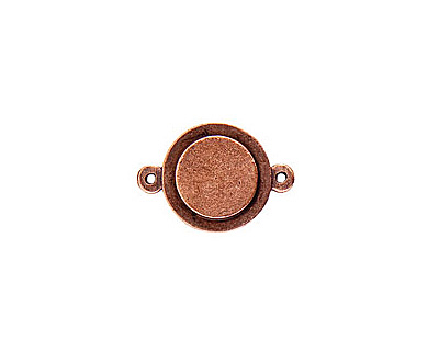 Nunn Design Antique Copper (plated) Raised Tag Mini Circle Connector 25x13m