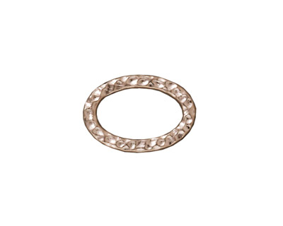 TierraCast Rhodium (plated) Hammertone Oval Ring 18x12mm