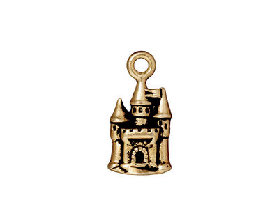 TierraCast Antique Gold (plated) Castle Charm 11x21mm