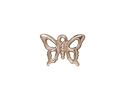 TierraCast Rhodium (plated) Petro Butterfly Charm 17x12mm