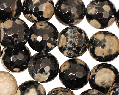 Cobra Agate Faceted Round 16mm