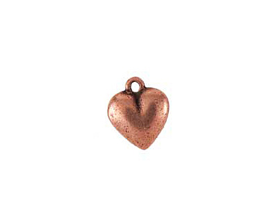 Nunn Design Antique Copper (plated) Heart Charm 12x15mm