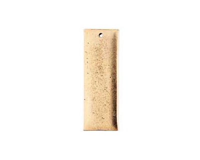 Nunn Design Antique Gold (plated) Flat Grande Thin Tag 13x37mm