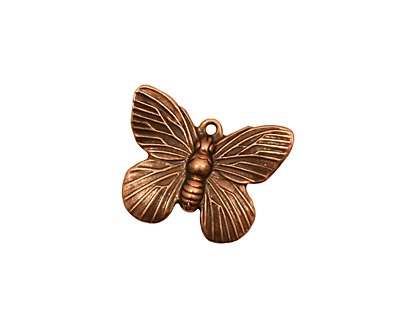 Stampt Antique Copper (plated) Butterfly Charm 19x15mm