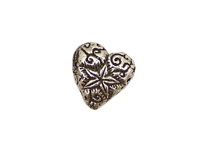 Green Girl Pewter Shining Heart 15mm