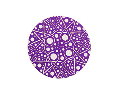 Lillypilly Purple Geometrics Anodized Aluminum Disc 25mm, 24 gauge