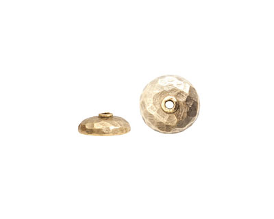 Nunn Design Antique Gold (plated) Hammered Bead Cap 4x11mm