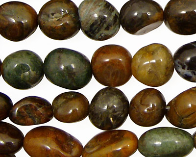 Copper Green Opal Tumbled Nugget 8-12x7-10mm