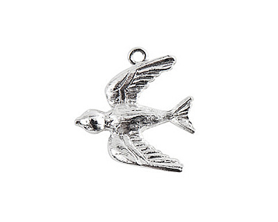 Nunn Design Sterling Silver (plated) Bird Charm 20x22mm