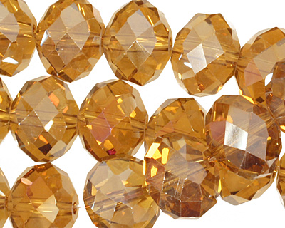 Topaz AB Crystal Faceted Rondelle 14mm