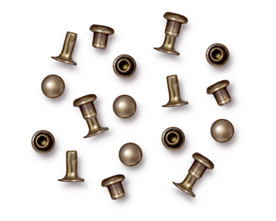 TierraCast Antique Brass (plated) Compression Rivet Set 4mm