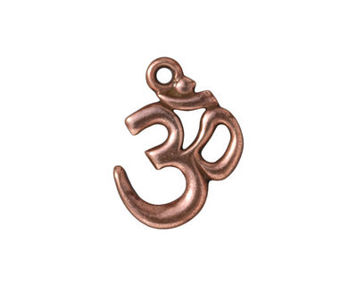 TierraCast Antique Copper (plated) Om Pendant 16x22mm
