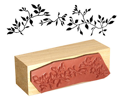 Flowing Leaves Rubber Stamp 68x20mm