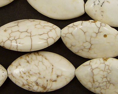 Magnesite Horse Eye 28x16mm