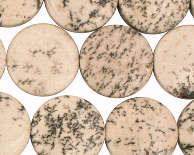 Sesame Jasper Puff Coin 18mm