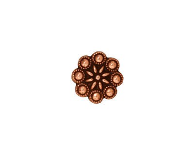 TierraCast Antique Copper (plated) Czech Rosette Button 11mm