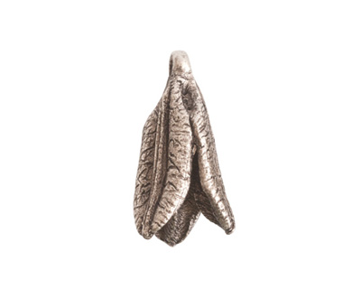 Nunn Design Antique Silver (plated) Young Lily Petal Charm 12x25mm