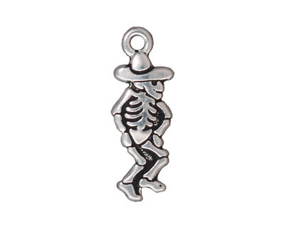 TierraCast Antique Silver (plated) Dancing Señor 11x28mm