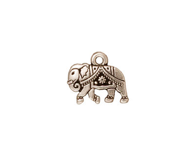 TierraCast Antique Silver (plated) Gita Charm 13x12mm