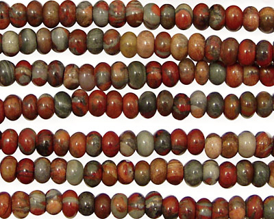 Gray Rainbow Jasper Rondelle 4mm