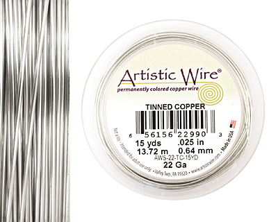 Artistic Wire Tinned Copper 22 gauge, 15 yards