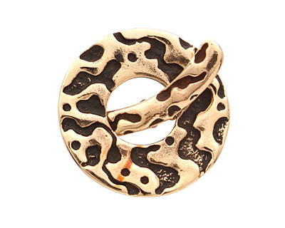Saki Bronze Molten Toggle Clasp 27mm, 28mm bar