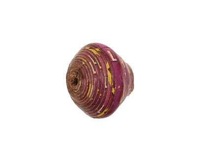 African Paper (lilac, yellow) Bicone 14-15x16-17mm