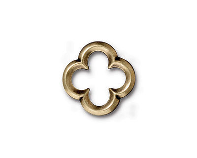 TierraCast Antique Brass (plated) Medium Quatrefoil Link 16mm