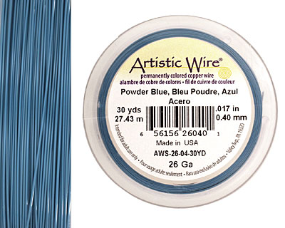 Artistic Wire Powder Blue 26 gauge, 30 yards