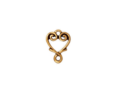 TierraCast Antique Gold (plated) Vine Heart Link 12x10mm